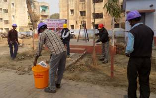 Councillor, Panki, Kanpur participated in cleanliness drive at Panki