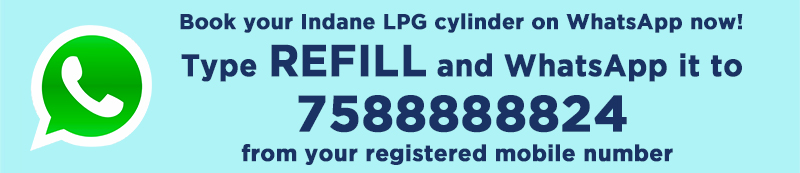 Indane Gas LPG cylinder booking number announced b IOC