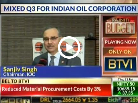 Mr Sanjiv Singh, Chairman, IndianOil spoke to BTVi on IndianOil's Q3 - 2019