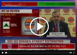 Mr. Sanjiv Singh, Chairman, IndianOil speaks to Bloomberg TV during Q2 results, about IndianOil missing the Street Estimates